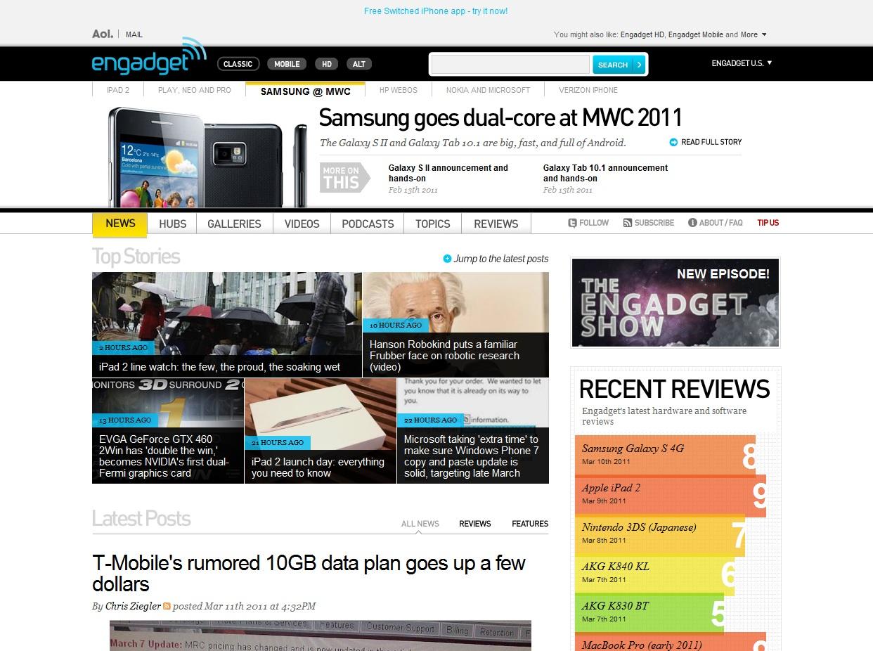 Engadget . com